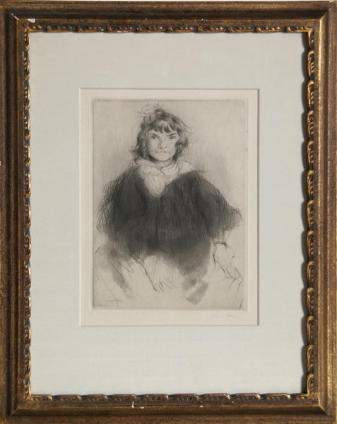 La Petite Ecoliere by Jacques Villon