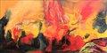 """Fantastic landscape (volcano in eruption)"" by David Alfaro Siqueiros"