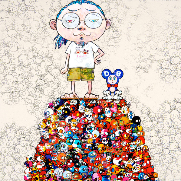 DOB & Me: On the red mound of the dead by Takashi Murakami