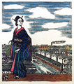 Woman with Iris by Sumio KAWAKAMI