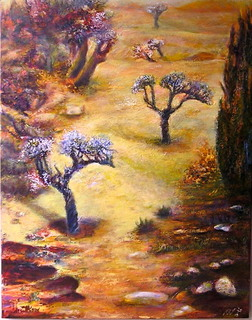 Landscape with bonzai by Sylva Zalmanson