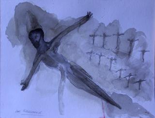 crucified in flight by Ricardo Hirschfeldt