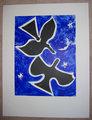 Deux Oiseau sur fond Bleu by Georges Braque