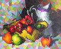 bodegon con jarra y frutas by José Sanz Sala