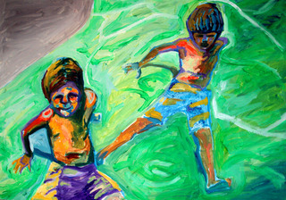 Children playing by Raquel Sara Sarangello