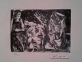 """""""Minotauro ciego guiado por una niña en la noche"""". Suite Vollard by Pablo Picasso"""