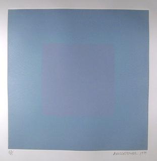 Winter Suite (Light Blue with Light Blue) by Richard Anuszkiewicz