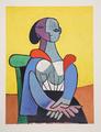 Femme à la Chaise sur Fond Jaune by Picasso Estate Collection