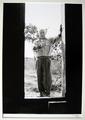 Atelier du Fournas - Vallauris 1954 (Picasso standing at open door beconing) by Andre Villers