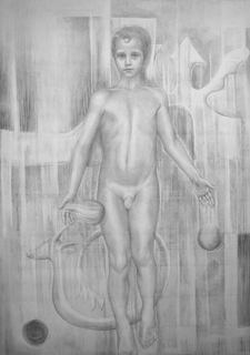 Lucas- Preparatory Drawing by Teresa Díaz Chicote
