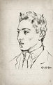 Portrait of Raymond Radiguet by Pablo Picasso