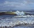 Waves on the beach of the dove 2 by Rosario de Mattos