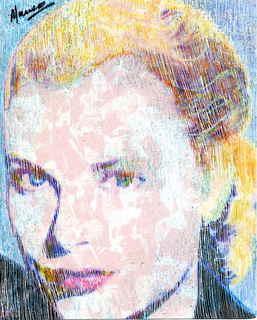 Grace Kelly swimming pool portrait by Marco Mark