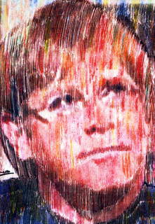 Elton John at Princess Diana funeral service series Red by Marco Mark