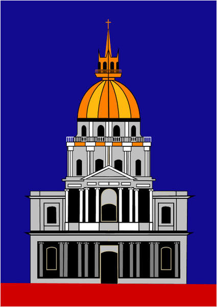 Church at the Invalides - Color by Asbjorn Lonvig