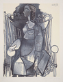 Femme Assise dans un Fauteuil Tresse by Picasso Estate Collection
