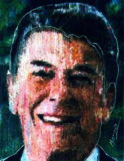 President Ronald Reagan,light to dark by Marco Mark
