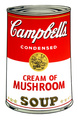 Campbell's Soup - Mushroom by Andy Warhol