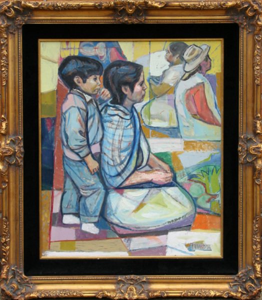 Untitled 1 (Kneeling Mother and Son) by Irving Amen