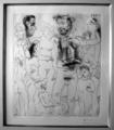Reflexion du vieux peintre sur son oeuvre by Pablo Picasso