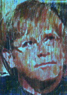 Elton John at Princess Diana funeral service series Blue by Marco Mark