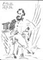 Portrait of Leon Tolstoi by Pablo Picasso