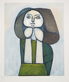 Portrait de Femme à la Robe Verte by Picasso Estate Collection