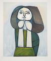 Portrait de Femme à la Robe Verte by Picasso Estate Collection