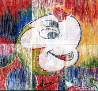 Mickey Mouse,3 rain rectangles by Marco Mark