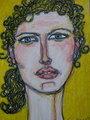 Mujer de pelo rizado by Sergio Vázquez