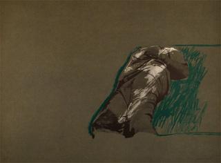 Figura sobre la Hierba by Rafael Canogar