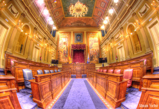 The Parliament of the Canary islands by Atman Victor