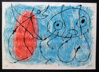Le Lezard aux plumes D'or - Maeght 517 by Joan Miró