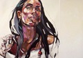 girl with necklace by Anna Bocek