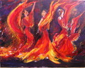 Flamenco dancers 3 by Sylva Zalmanson