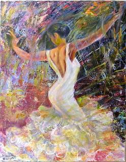 Flamenco dancer 25 by Sylva Zalmanson