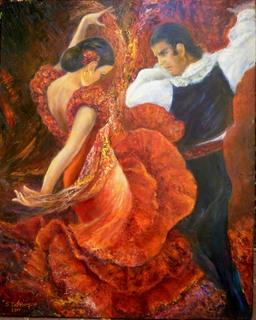 Flamenco couple 2 by Sylva Zalmanson