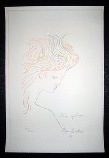 Womans head right by Jean Cocteau