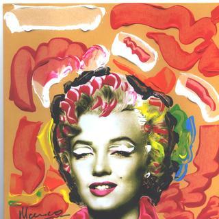 POP Marilyn grafitti blossom by Marco Mark