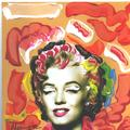 POP Marilyn grafitti blossom by Marco Mark