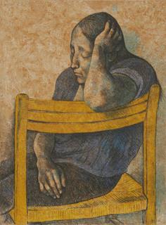 Muchacha en una Silla by Francisco Zuñiga