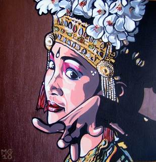Balinese dancer by Menchu Gamero