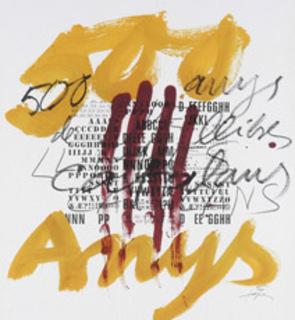 Composición de Antoni Tàpies