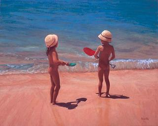 Children on the Beach by José Luis Alvarez Vélez