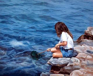 Girl Fishing by José Luis Alvarez Vélez