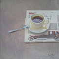Coffee and News by Tomasa Martin