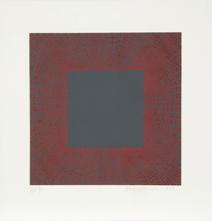 Midnight Suite (Red over Gray) by Richard Anuszkiewicz