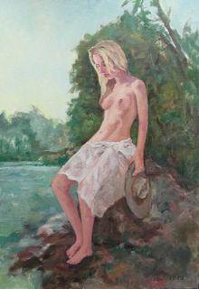 La fille à l'étang by Alain Lutz