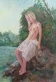La fille à l'étang de Alain Lutz