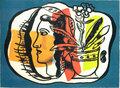 Composition au profile by Fernand Leger